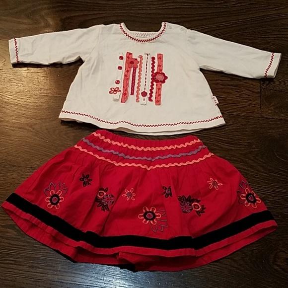 pumpkin patch Other - Pumpkin Patch skirt and top set, 3/6 months.